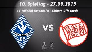 SV Waldhof Mannheim 07 vs. Kickers Offenbach 10. Spieltag