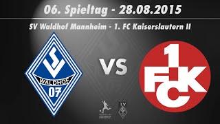 SV Waldhof Mannheim 07 vs. 1. FC Kaiserslautern II 6. Spieltag 15/16