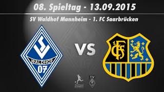 SV Waldhof Mannheim 07 vs. 1 FC. Saarbrücken 8. Spieltag 15/16