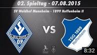 SV Waldhof Mannheim 07 vs. TSG Hoffenheim U23 2. Spieltag 15/16