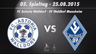 FC Astoria Walldorf vs. SV Waldhof Mannheim 07 5. Spieltag 15/16
