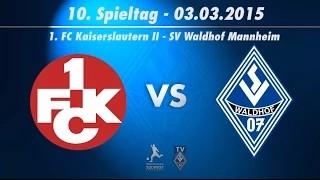 1. FC Kaiserslautern vs. SV Waldhof Mannheim 07 10. Spieltag (Nachholspiel) 14/15