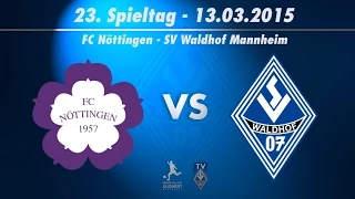 FC Nöttingen vs. SV Waldhof Mannheim 07 23. Spieltag 14/15