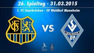 1.FC Saarbrücken vs SV Waldhof Mannheim 07 25. Spieltag 14/15