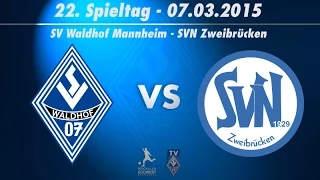 SV Waldhof Mannheim 07 vs. SVN Zweibrücken 22. Spieltag 14/15
