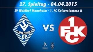 SV Waldhof Mannheim 07 vs. 1. FC Kaiserslautern II 27. Spieltag 14/15
