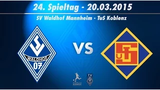 SV Waldhof Mannheim 07 vs. TuS Koblenz 24. Spieltag 14/15