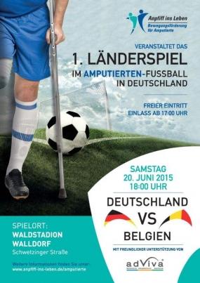 1. Länderspiel Amputierten-Fußball Deutschland vs. Belgien im Walldorfer Waldstadion