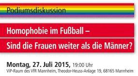 Podiumsdiskussion - Homophobie im Fußball: Sind die Frauen weiter als die Männer?!