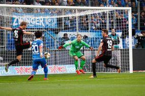 1899 Hoffenheim mit glücklichem Remis gegen die Frankfurter Eintracht +++ Keeper Baumann rettet Punkt