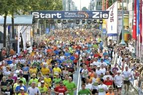 Der SAP Arena Marathon Mannheim/Ludwigshafen lockt bis zu 100.000 Zuschauer in die Städte