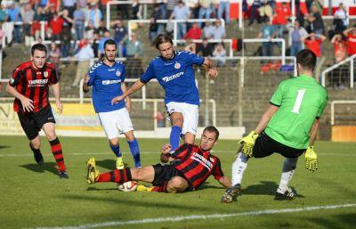 Den Angriff auf die Tabellenspitze hat der VfR Mannheim erst einmal selbst gestoppt - 0:2 gegen Gommersdorf