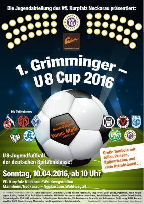 Jugendfußball der Spitzenklasse in Neckarau! U8 Cup 2016 beim VfL Kurpfalz Neckarau e.V.