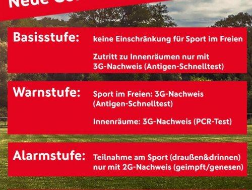 Neue Corona-Verordnung: 3G in der Warnstufe, 2G in der Alarmstufe