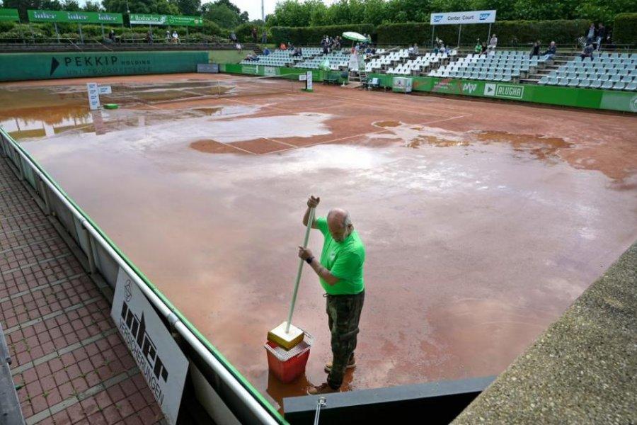 Schlechtes Wetter, aber dafür ein gutes Ergebnis - Tennis-Bundesligist Grün-Weiß Mannheim startet mit einem 5:1 Sieg
